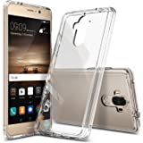 Huawei Mate 9 Case, Ringke [FUSION] Tough PC Back TPU Bumper [Drop Protection/Shock Absorption Technology][Attached Dust Caps] Raised Bezels Protective Cover For Huawei Mate 9 - Clear