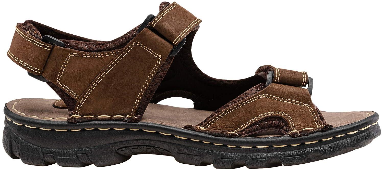 JOUSEN Mens Sandals Outdoor Open Toe Water Beach Sandal Leather Sport Sandal
