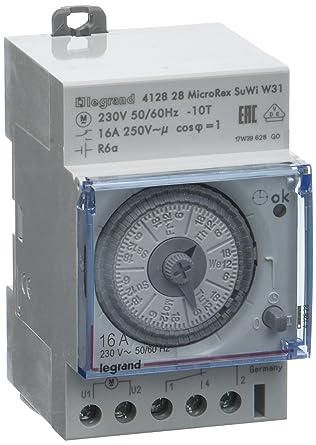 grand choix de vente usa en ligne meilleures baskets Legrand LEG412828 Interrupteur horaire programmable  analogique/automatique/hebdomadaire 3 modules