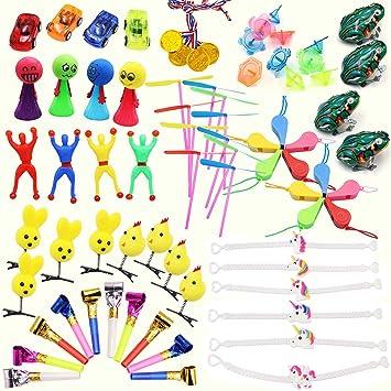 iLoveCos Bolsa Juguetes Surtido Tesoros de Premios Aula Niños Bolsas de Cumpleaños Fiesta Llenado Regalos Piñatas New YearS Eve Party Bag Favores ...