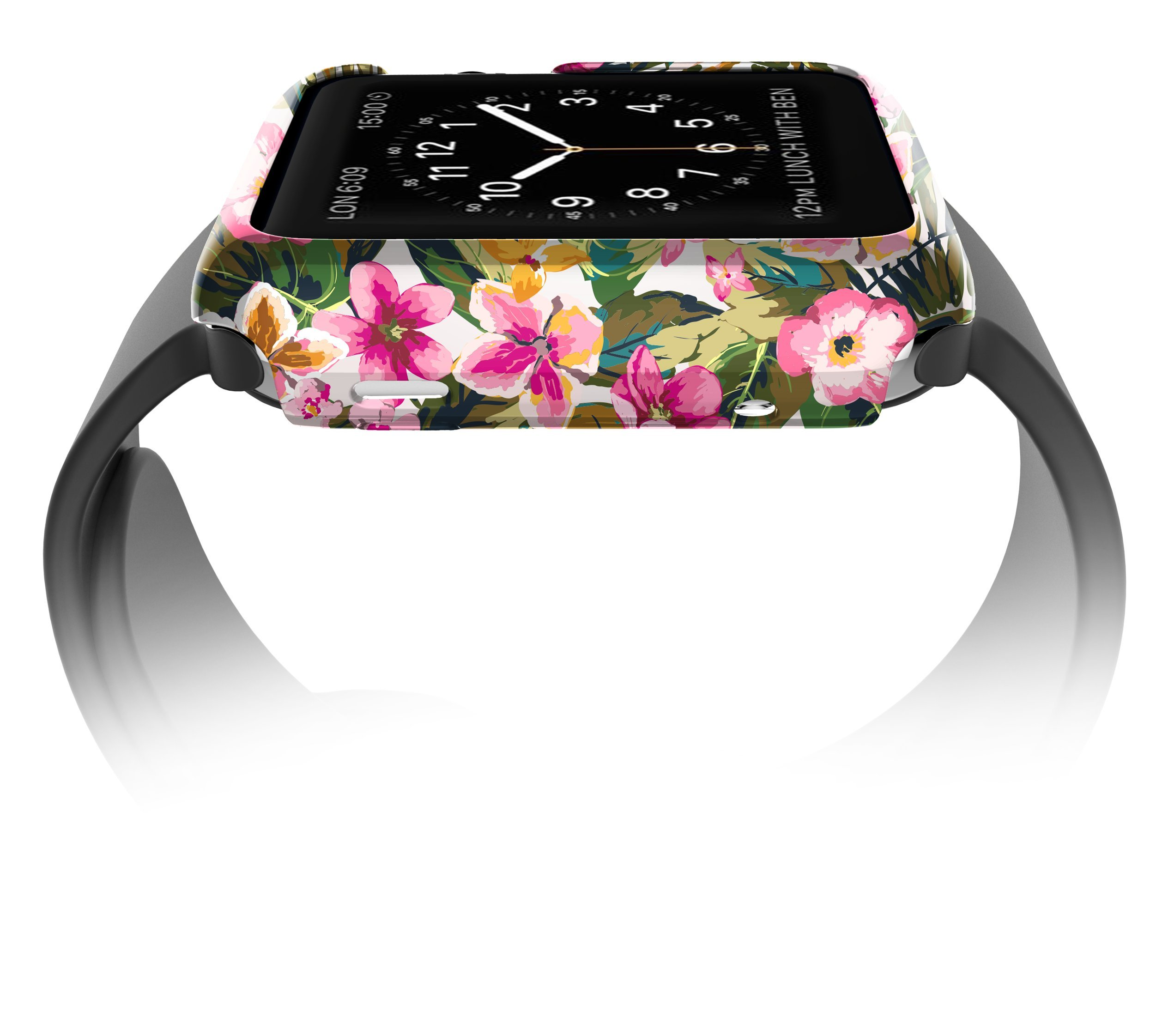 X-Doria 38mm Apple Watch Case (Revel Bumper) Fashion Case (Floral Palm) - Compatible with Apple Watch Series 1, Series 2, Series 3 and Nike+ by X-Doria (Image #3)