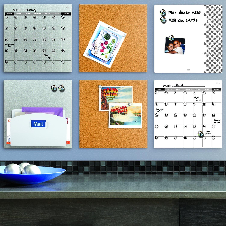 Frameless Silver White Board 85401-SL 5-1//2 x 14 Dry Erase Board Quartet Magnetic Whiteboard Tile Frameless