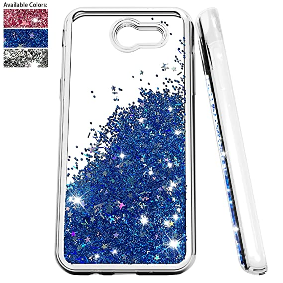 cheap for discount b9b7e de498 Samsung Galaxy J3 Emerge Glitter Case,J3 Eclipse/J3 Prime/J3 Luna Pro/J3  Mission/Amp Prime 2/Express Prime 2/Sol 2 Case w/Screen Protector,NiuBox ...