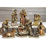 Idea Natale: Presepe natività composto da 10 statue alte fino a 21,5 cm