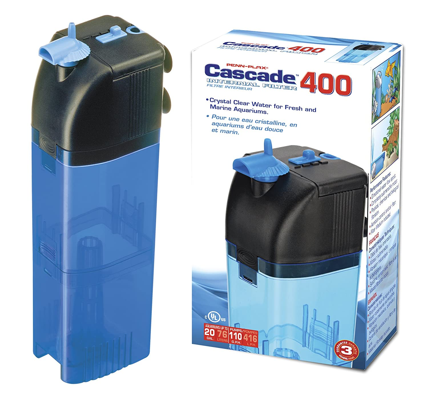Penn Plax Cascade 400 Internal Filter for Aquariums by Penn-Plax B0002DJLEQ