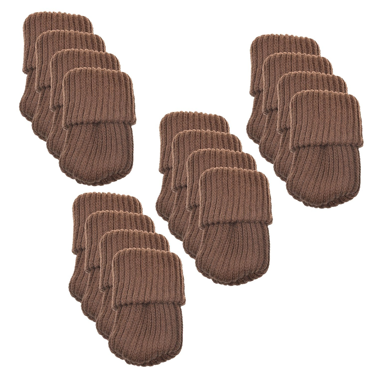 OPOCC Chair Leg Socks Furniture Sliders that Protect Hardwood Floors from Scratches and Reduce Noise Table Socks 16pcs/pack (Brown)