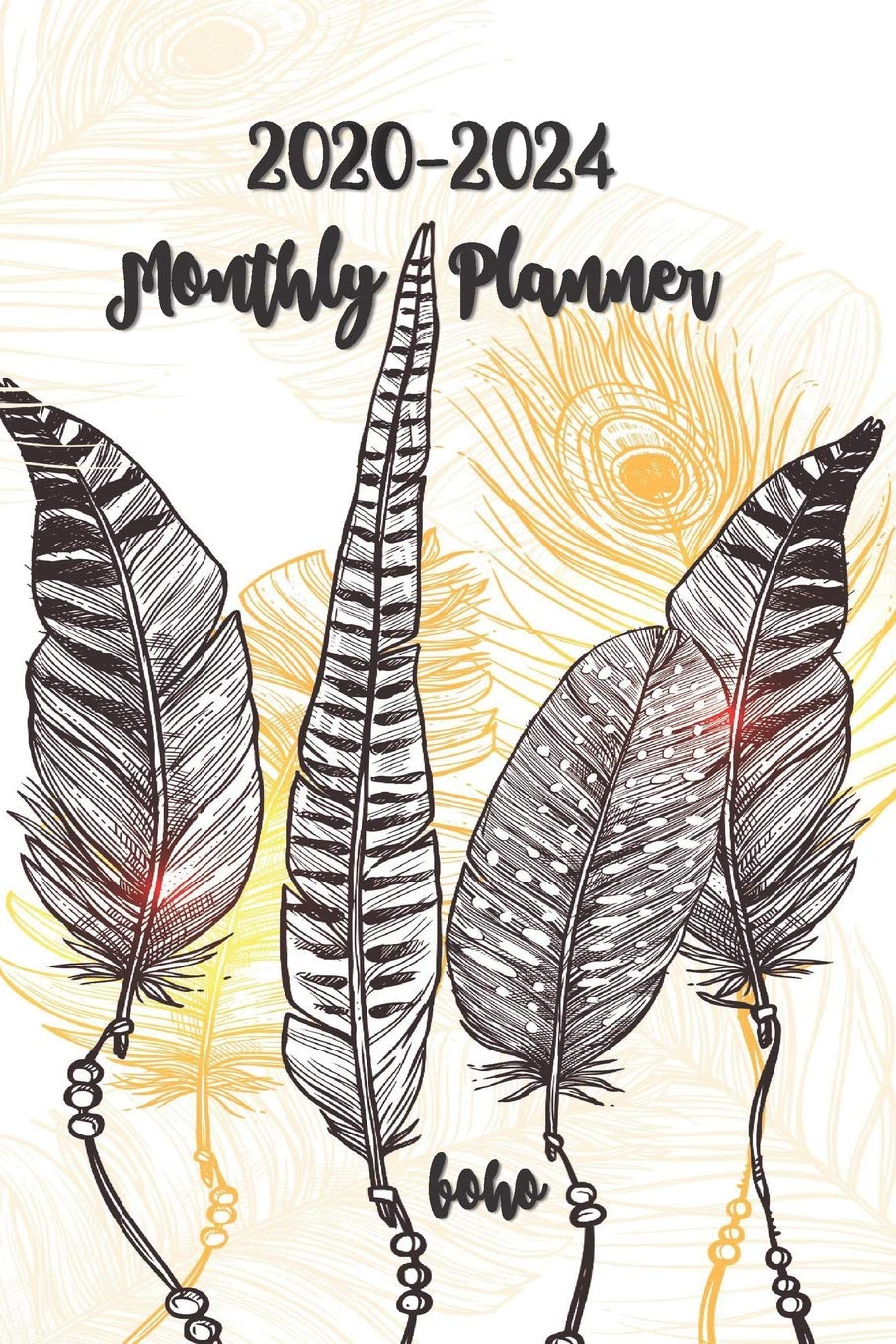 2020-2024 Boho Monthly Planner: Pocket Size Five Year ...