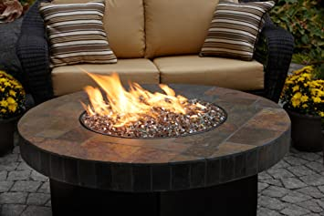 Elegant Santa Fe 42u0026quot; Round Oriflamme Fire Table Gas Fire ...
