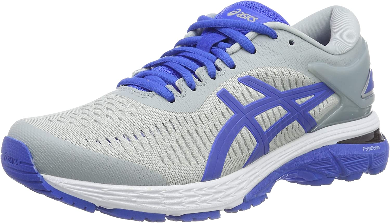 Asics Gel-Kayano 25 Lite-Show, Zapatillas de Running para Mujer, Gris (Mid Grey/Illusion Blue 020), 43.5 EU: Amazon.es: Zapatos y complementos