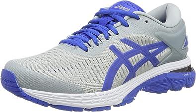 Asics Gel-Kayano 25 Lite-Show, Zapatillas de Running para Mujer, Gris (Mid Grey/Illusion Blue 020), 41.5 EU: Amazon.es: Zapatos y complementos