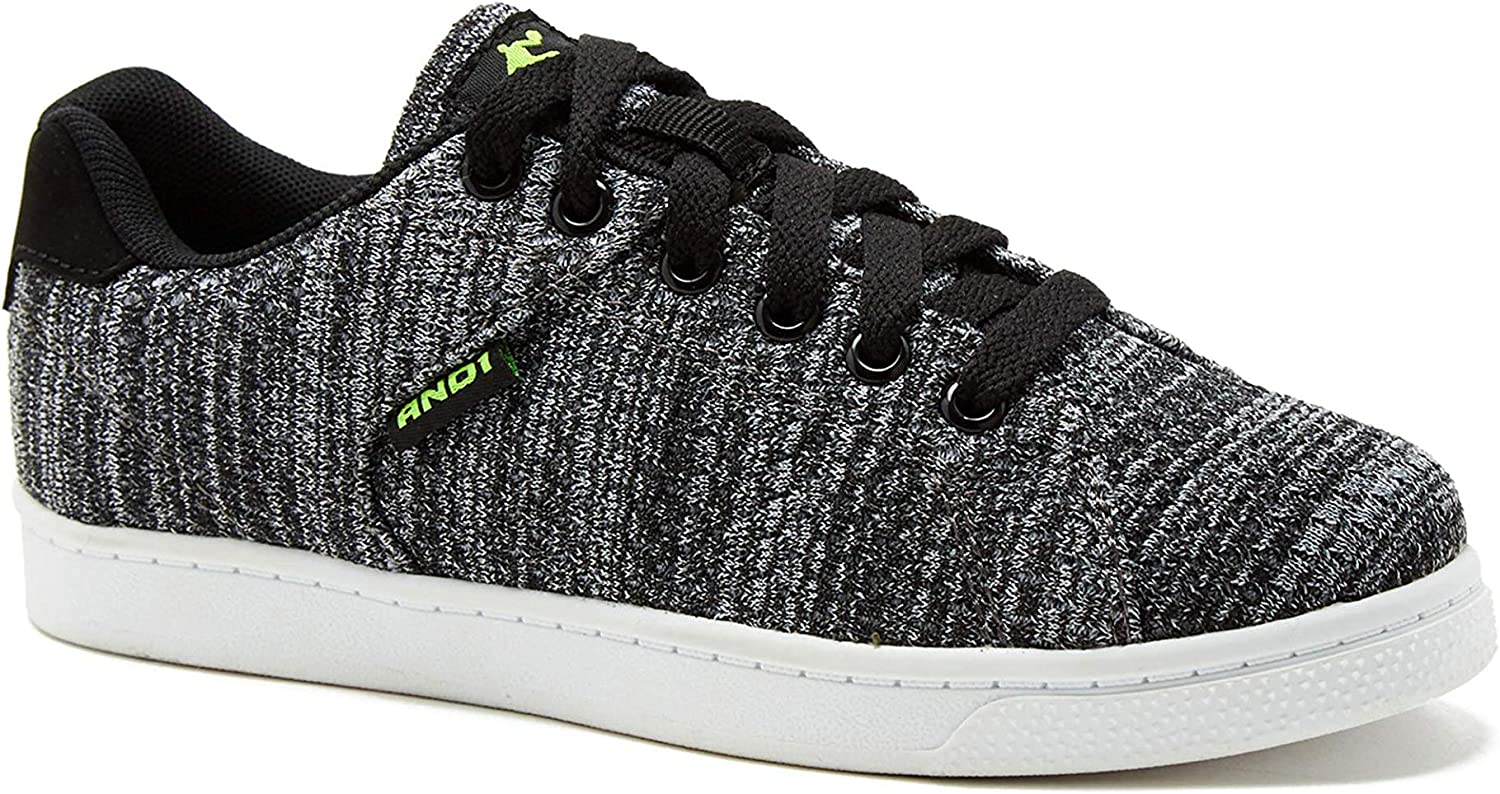 Black AND1 Boys Casual Knit Court Shoe