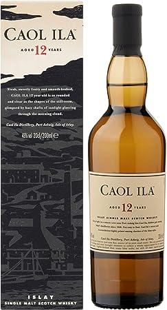 Caol Ila Juego de 2 Vasos de Whisky, 12 años/años, de una Sola Vez, para Whisky, Scotch, Alcohol, Bebidas alcohólicas, 43%, 200 ml, 647650, Regalo para el día del Padre, con Cristal Grabado