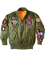 Amazon.com: Alpha Industries Big Boys' MA-1 Bomber Jacket with ...
