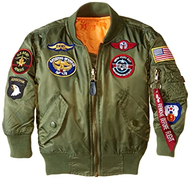 4a43a5faf Amazon.com  Alpha Industries Boys  Little MA-1 Bomber Jacket with ...