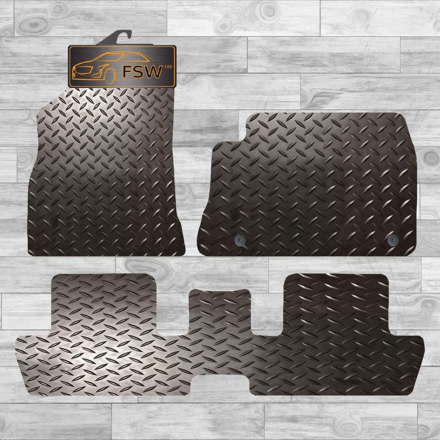 FSW 3008 2009-2016 Tailored 5MM Waterproof Rubber EXTRA Heavy Duty Car Floor Mats