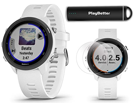 Amazon.com: Garmin Forerunner 245 Music (White) Running GPS ...