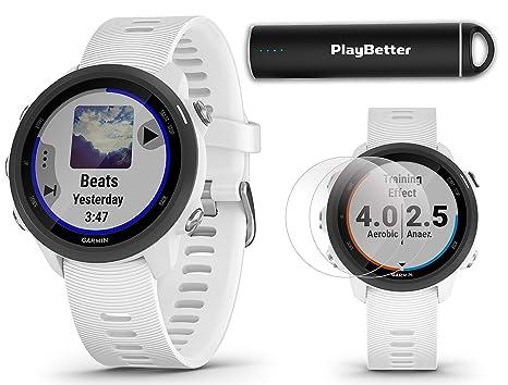 Amazon.com: Garmin Forerunner 245 Music (White) Running GPS ...