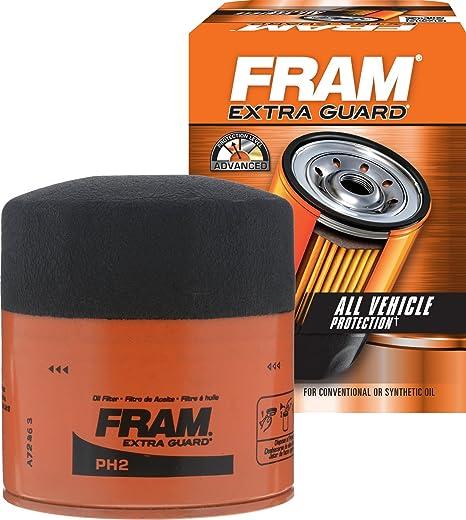 Amazon.com: Fram PH2 Filtro de aceite Extra Guard ...