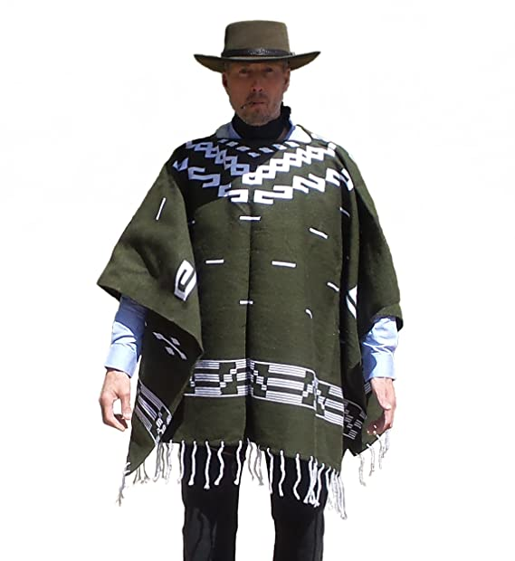 Straightline Clint Eastwood Style Spaghetti Western Cowboy Olive Green  Poncho Movie Prop - Great Gift  Amazon.ca  Clothing   Accessories 3c20338561ce