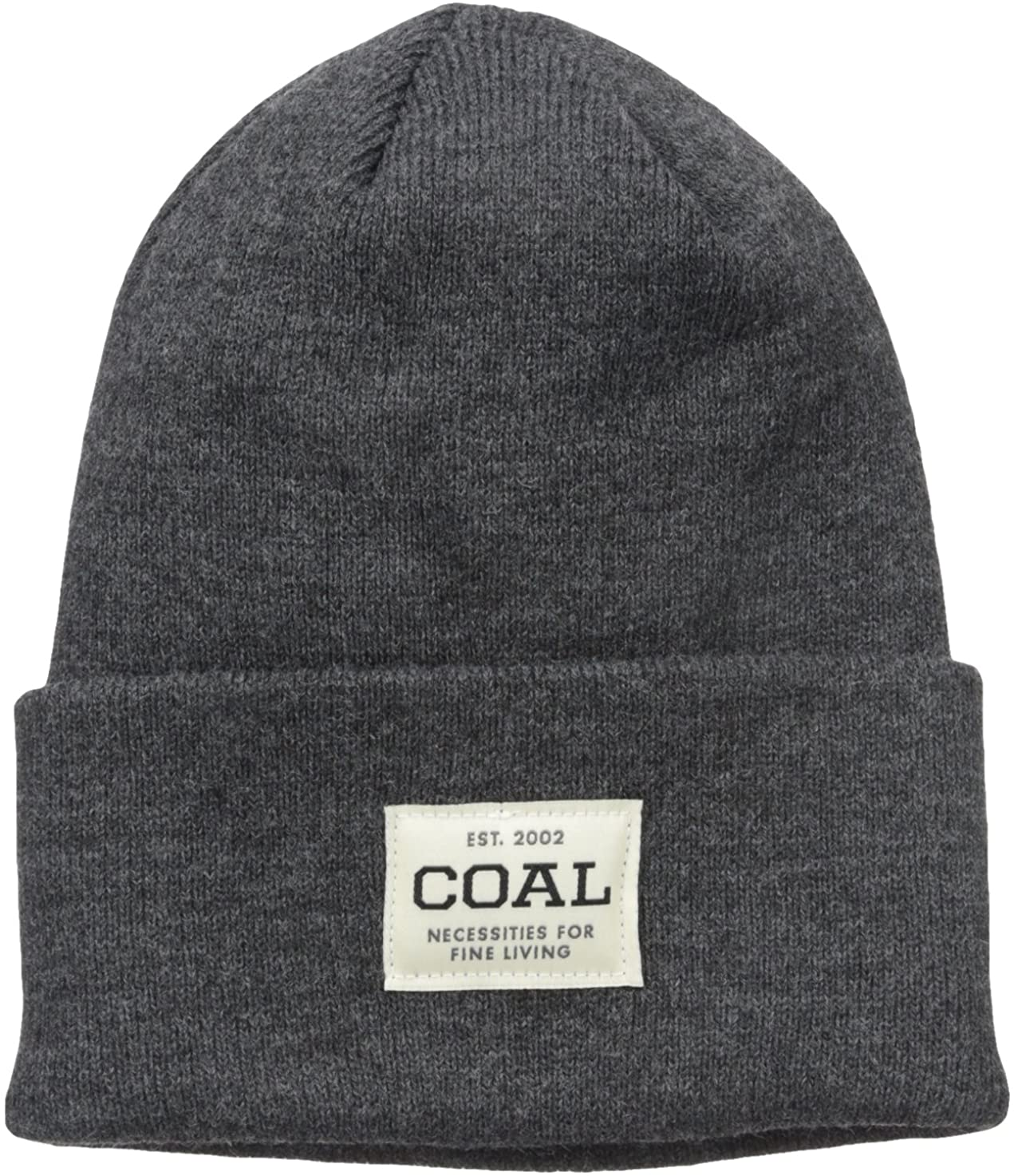 Coal Mens The Uniform Fine Knit Workwear Cuffed Beanie Hat