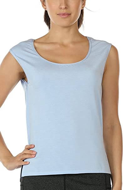 Amazon.com: icyzone - Camiseta de yoga para mujer: Clothing