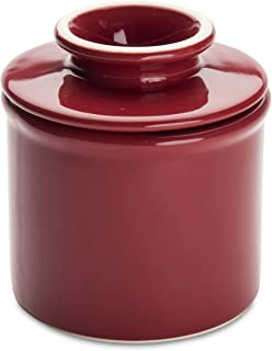 product image for American Mug Pottery Butter Keeper/Butter Dish, Made in USA, Red