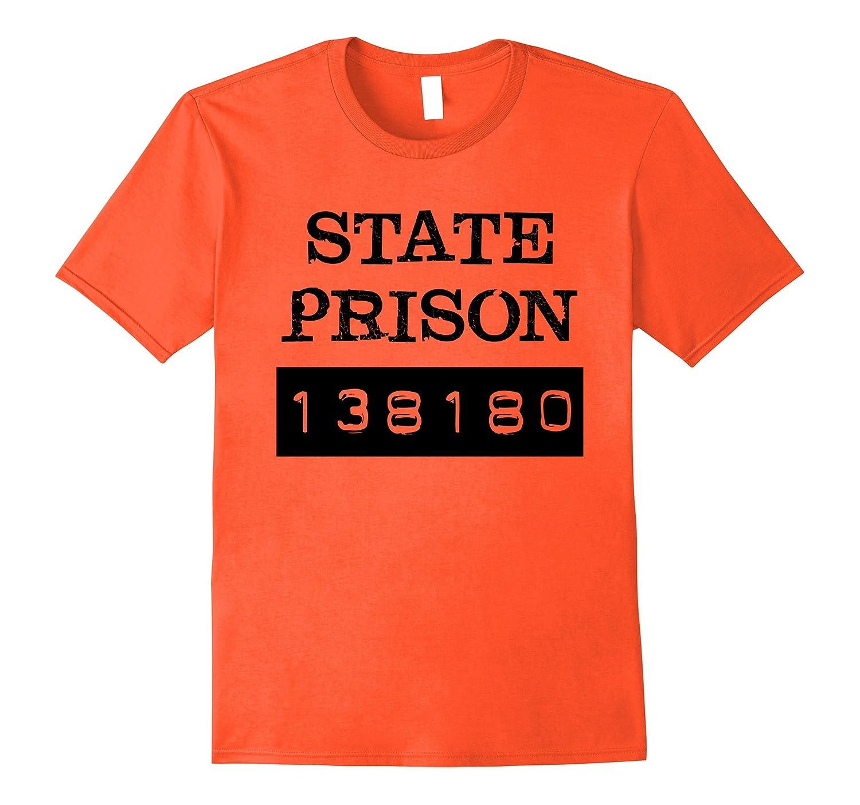 Prisoner Costume T-Shirt   State Prison Funny Tee-T-Shirt
