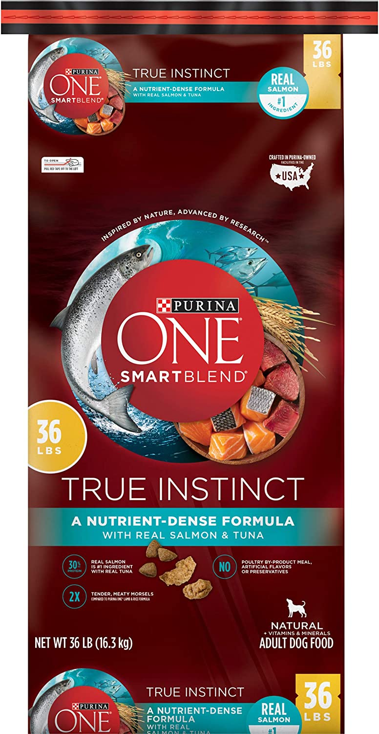 Purina ONE SmartBlend True Instinct Natural with Real Salmon & Tuna Adult Dry Dog Food