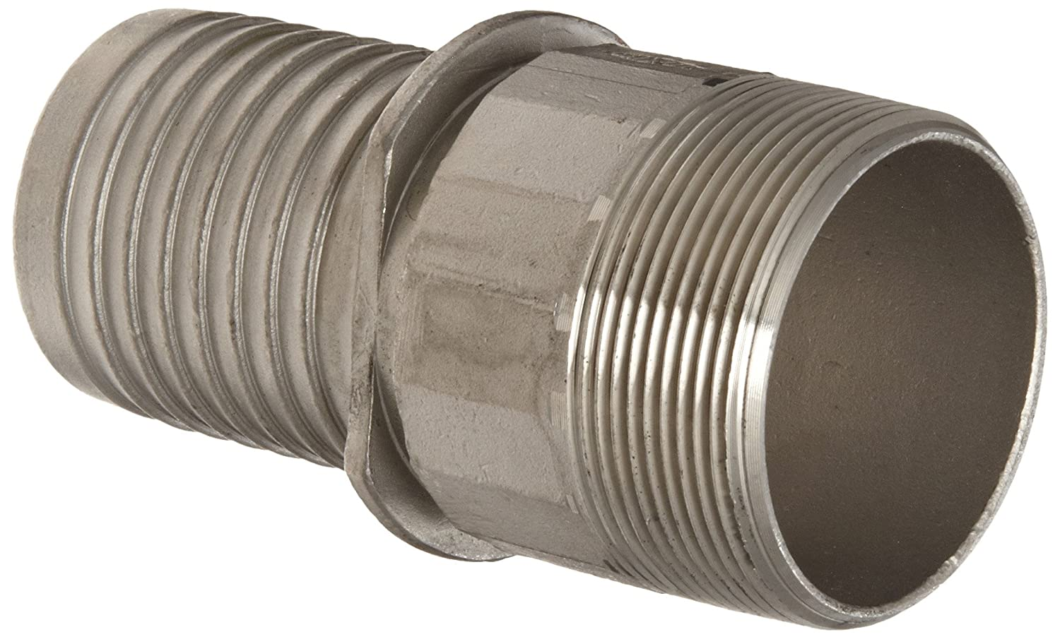 Dixon Holedall RST300NOS Stainless Steel 316 Hose Fitting External Swage Notched NOS Stem 3 NPT Male x 3-1//32 Hose ID Barbed 3 NPT Male x 3-1//32 Hose ID Barbed Dixon Valve /& Coupling