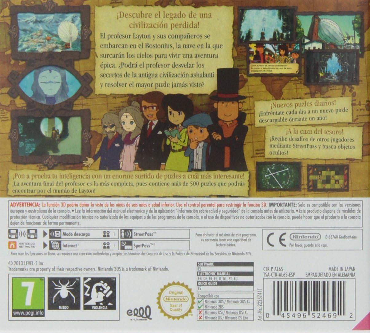 El Profesor Layton Y El Legado de Los Ashalanti: Amazon.es: Videojuegos