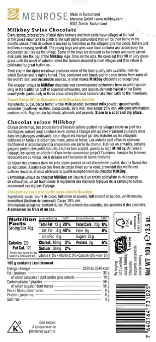 Amazon.com : Milkboy Swiss White Chocolate with Bourbon Vanilla (5 Pack) : Grocery & Gourmet Food