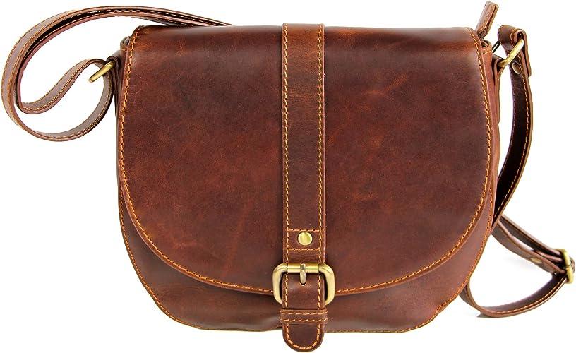 Alva Femmes Café Marron en cuir de luxe en cuir sac à main portefeuille sac à main nouveau