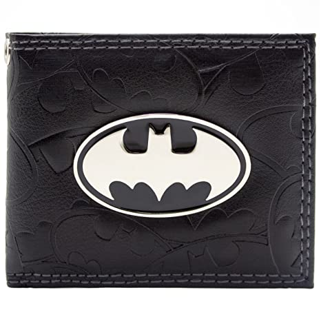 Cartera de DC Comics Batman Badge & Bat Símbolos Negro: Amazon.es: Equipaje