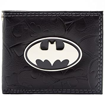 Cartera de DC Comics Batman Badge & Bat Símbolos Negro