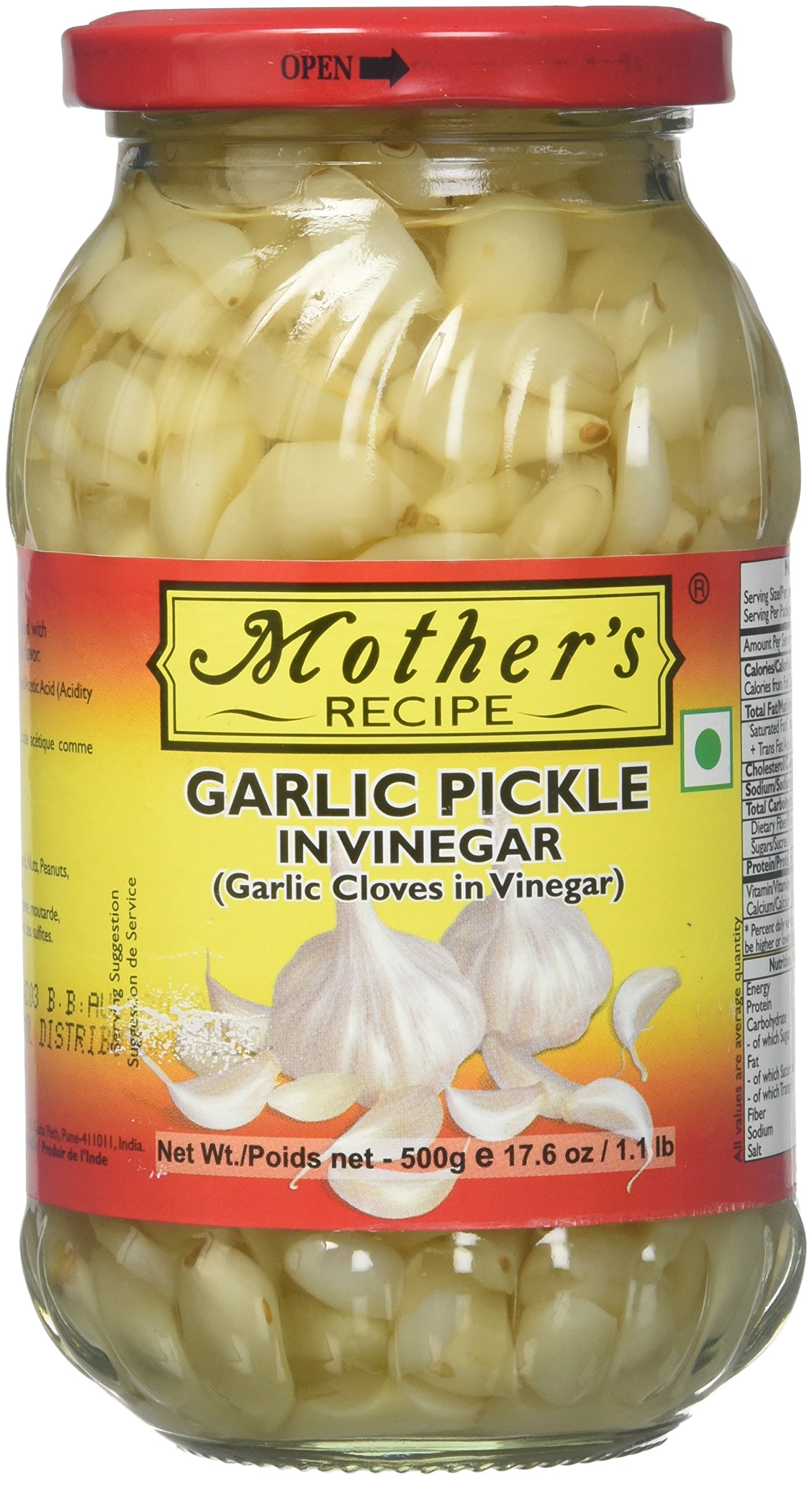 Mother's Recipe Garlic Pickle in Vinegar 17.6 Oz