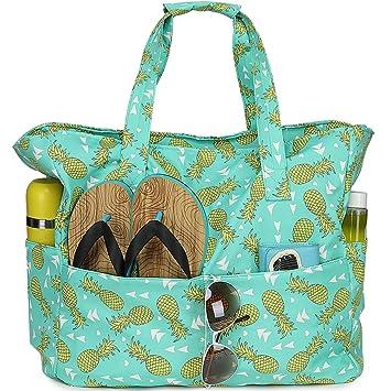 Amazon.com: Bolsa de playa impermeable para mujer y mujer ...