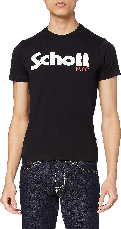 Schott Homme à Manches Courtes Tee T-Shirt en Bleu Marine //// BNWT ////