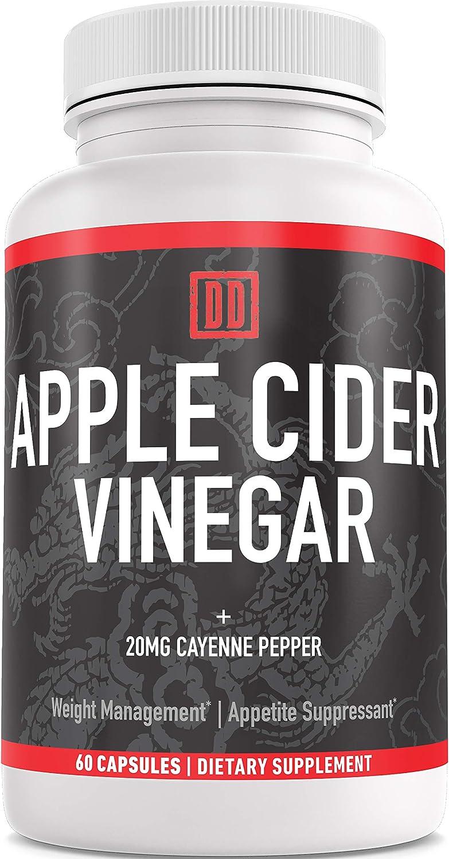 Apple Cider Vinegar Capsules - Sugar Free, No Artificial Flavors or Sweeteners ACV Pills - 1 Bottles - 60 Capsules Total