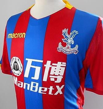 CPFC Camiseta Oficial de Crystal Palace FC para Hombre con diseño de Jugador en casa (2017 - 2018): Amazon.es: Deportes y aire libre