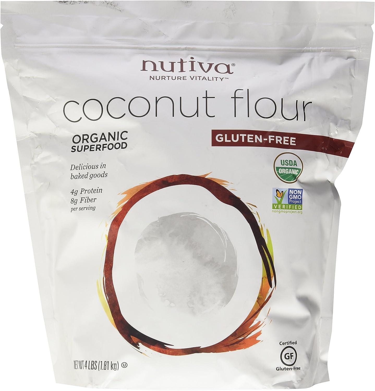 Nutiva coco Harina Sin Gluten - 1.81kg: Amazon.es: Alimentación y ...