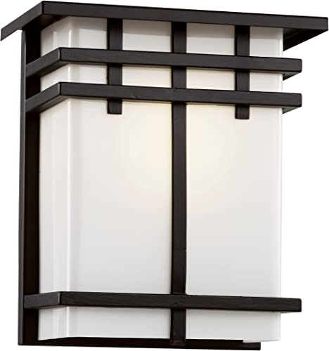 Trans Globe Imports 40202 BK Craftsman Mission One Light Wall Lantern from Ventura Collection in Black Finish, Size