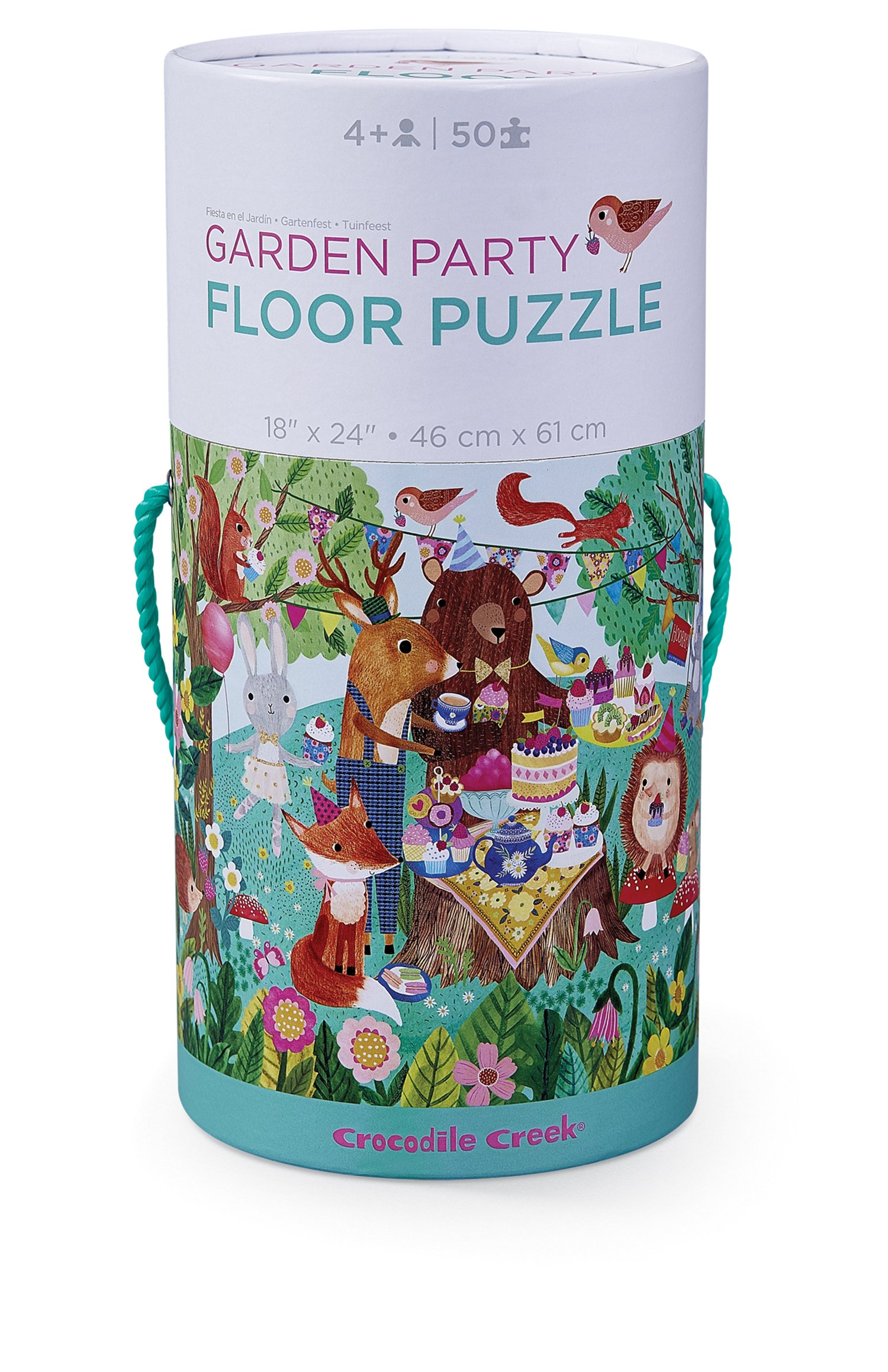 Crocodile Creek Garden Party Jigsaw Floor Puzzle Floor Jigsaw Puzzle by Crocodile Creek