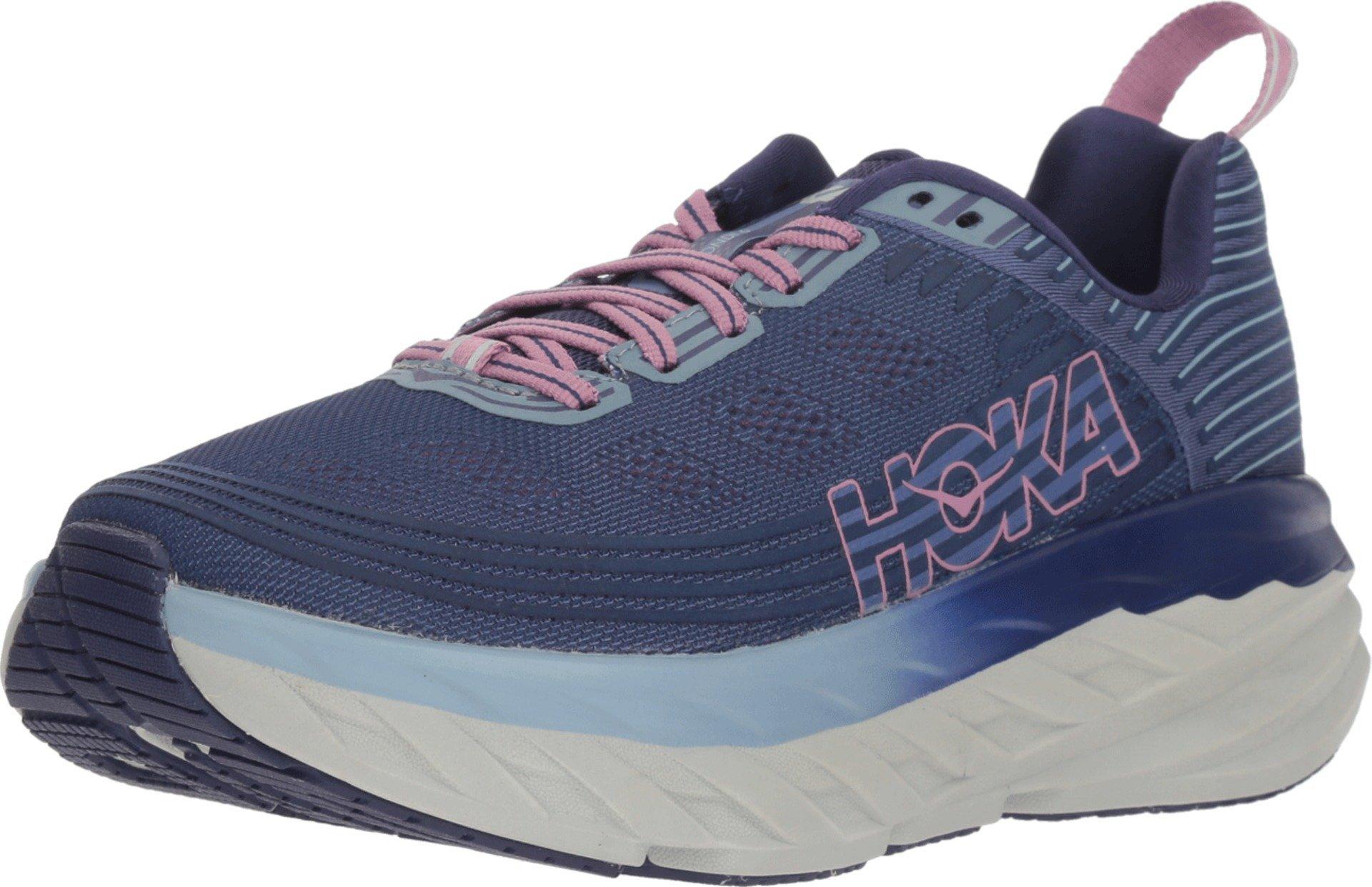HOKA ONE ONE Womens Bondi 6 Marlin/Blue Ribbon Running Shoe - 5.5