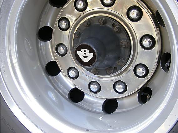 Juego de 2 tapacubos V8 de aluminio oxidado grabado para ...