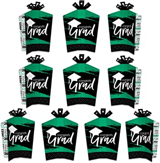 product image for Big Dot of Happiness Green Grad - Best is Yet to Come - Table Decorations - 2021 Green Graduation Party Fold and Flare Centerpieces - 10 Count