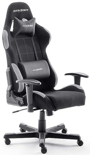 Misure Standard Scrivania Ufficio.Dx Racer5 Sedia Da Gioco Sedia Da Scrivania Sedia Da Ufficio Gaming Chair Nero Grigio 78 X 52 X 124 134 Cm
