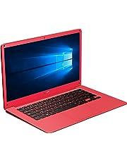 "InnJoo LeapBook A100 - Portátil, Intel CherryTrail-T3 Quad core Z8350 hasta 1.84Ghz, 4 GB Memoria RAM, 64 GB Memoria ROM, Licencia Windows 10 Oficial, Rojo, 14"""