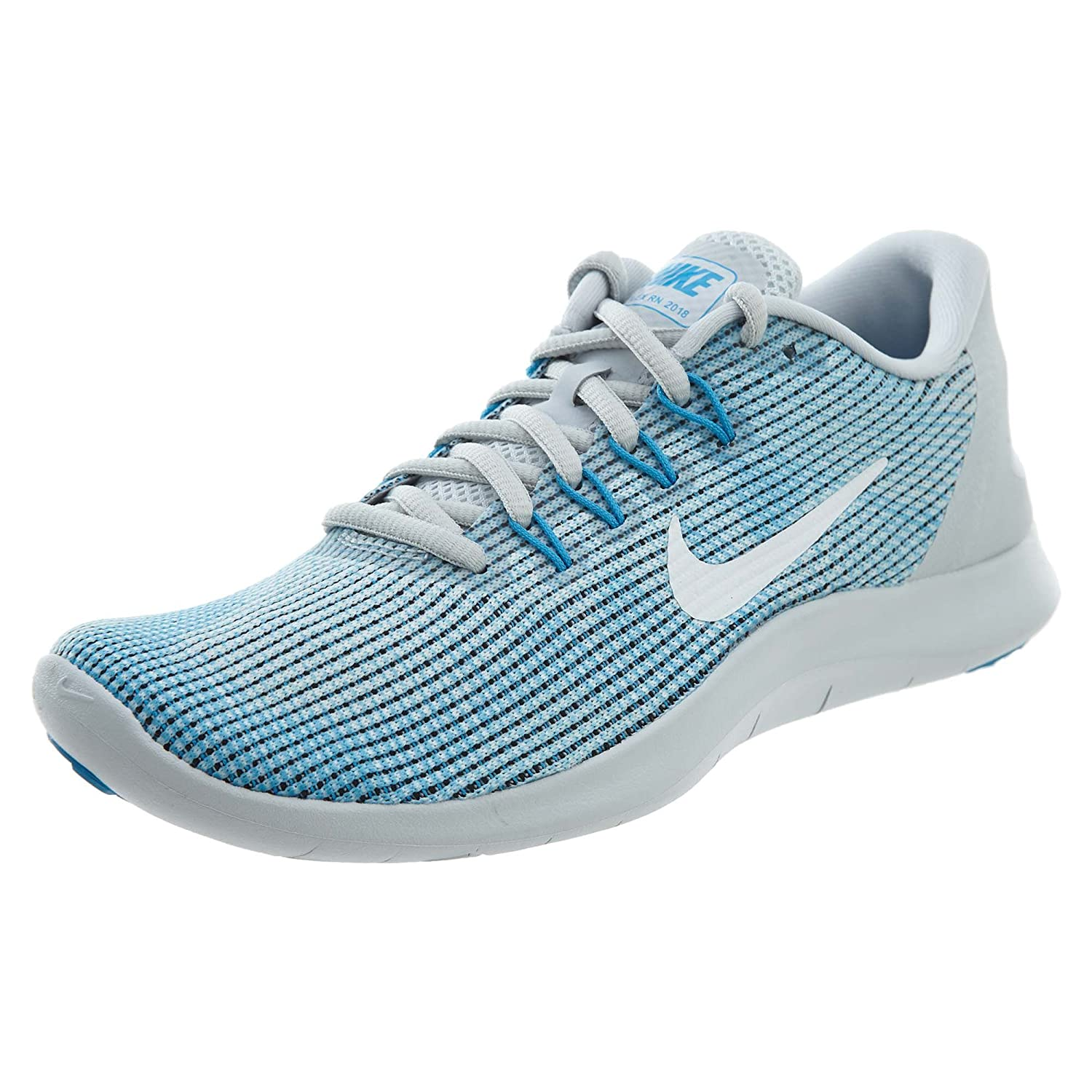 NIKE Women's Flex RN 2018 Running Shoe B075ZY6S14 5.5 B(M) US|Pure Platinum/White-equator Blue