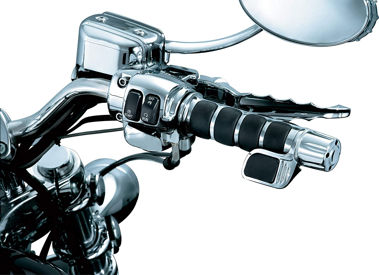 Right Side Only Chrome Pack of 1 Kuryakyn 6299 Premium ISO Contoured Throttle Boss Motorcycle Handlebar Grip Accessory: Universal Fit