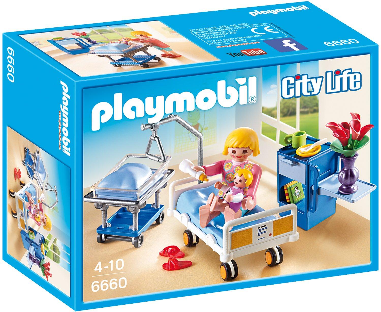Playmobil Krankenhaus Zubehör - Playmobil Krankenzimmer mit Babybett - Playmobil 6660